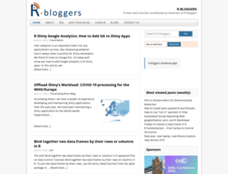 r-bloggers.com screenshot