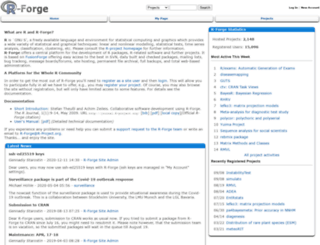 r-forge.r-project.org screenshot