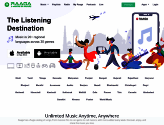 raaga.com screenshot