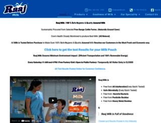 raajmilk.com screenshot