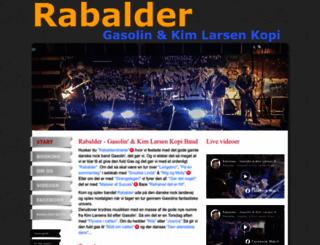 rabalderband.dk screenshot
