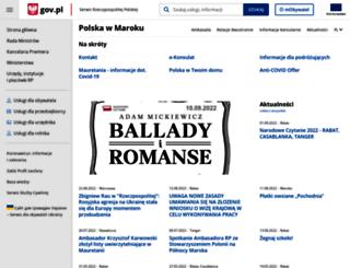 rabat.msz.gov.pl screenshot