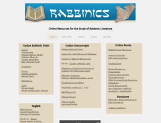 rabbinics.org screenshot