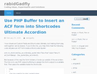 rabidgadfly.com screenshot