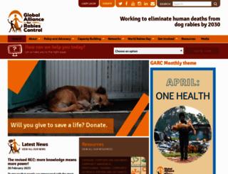 rabiesalliance.org screenshot