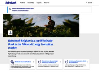 rabobank.be screenshot