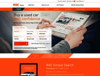 raccars.co.uk screenshot