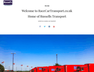 racecartransport.co.uk screenshot