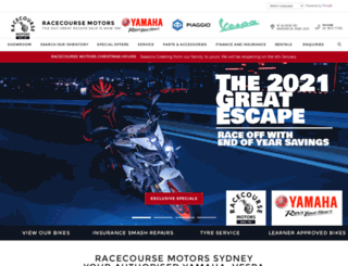 racecoursemotors.com.au screenshot