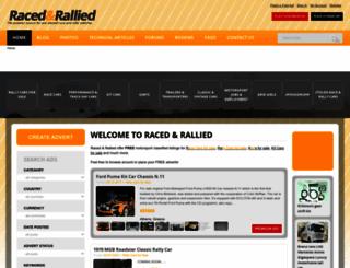 racedandrallied.com screenshot