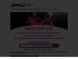raceforlifesponsorme.org screenshot