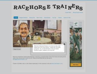racehorsetrainers.co.uk screenshot