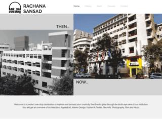 rachanasansad.edu.in screenshot
