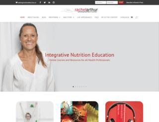 rachelarthur.com.au screenshot
