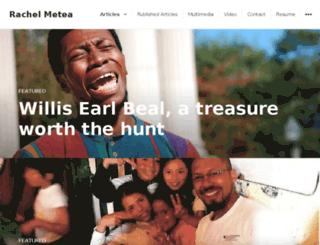 rachelmetea.com screenshot