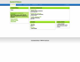 rachidmhalla.moncv.com screenshot