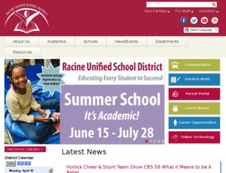 racine.k12.wi.us screenshot