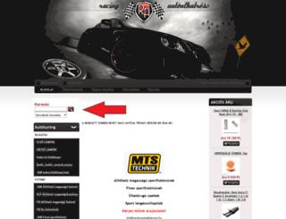 racing-autoalkatresz.hu screenshot