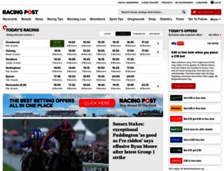 racingpost.com screenshot