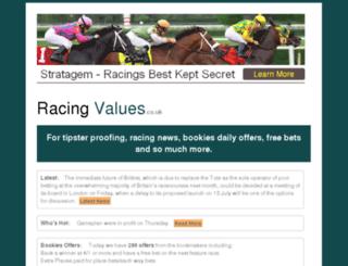 racingvalues.co.uk screenshot