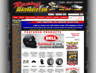 racingwarehouse.com screenshot
