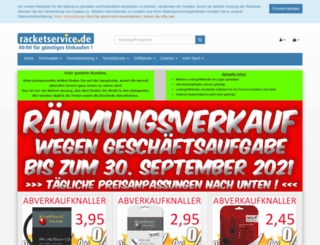 racket-service.de screenshot