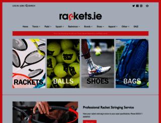 rackets.ie screenshot