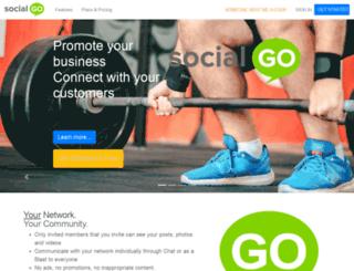 racklodge.socialgo.com screenshot
