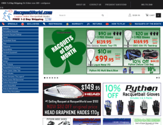 racquetworld.com screenshot