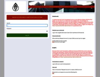 radboud.sona-systems.com screenshot