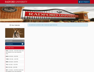 radfordactivities.universitytickets.com screenshot