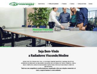 radiadoresvisconde.com.br screenshot