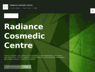 radiancecosmediccentre.nowfloats.com screenshot