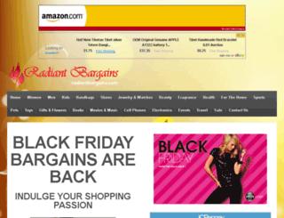 radiantbargains.com screenshot
