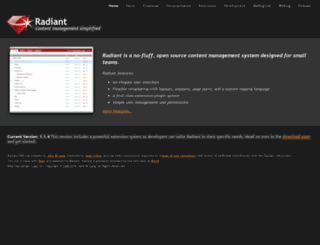 radiantcms.org screenshot