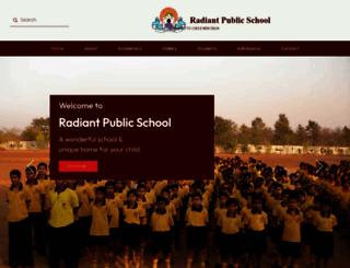 radiantpublicschool.com screenshot