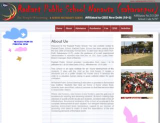 radiantpublicschool.in screenshot