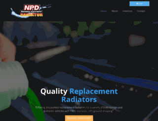 radiatordepot.com screenshot