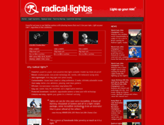 radical-lights.com screenshot