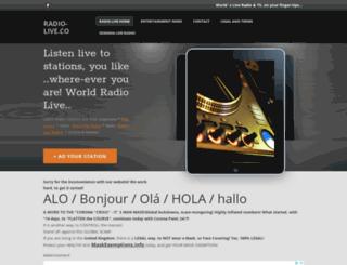radio-live.co screenshot