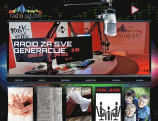 radio-ogulin.hr screenshot