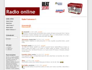 radio-online.cz screenshot