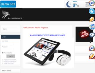 radio-pegasos.gr screenshot