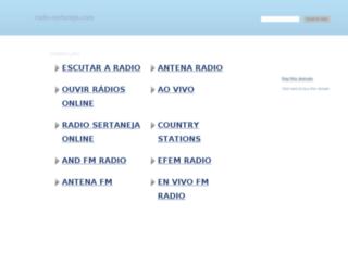 radio-sertaneja.com screenshot