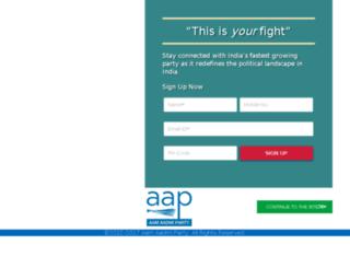 radio.aamaadmiparty.org screenshot