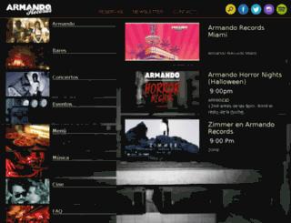 radio.armandorecords.org screenshot