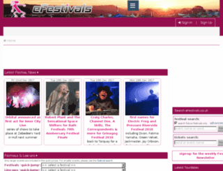 radio.efestivals.co.uk screenshot