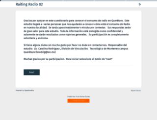 radio.questionpro.com screenshot
