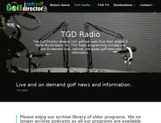 radio.thegolfdirector.com screenshot