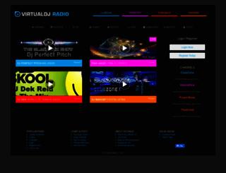 radio.virtualdj.com screenshot